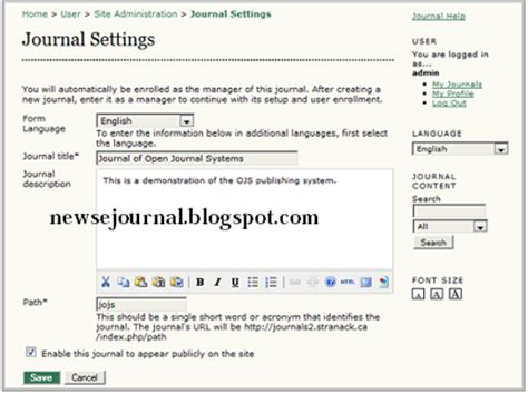 cara membuat critical jurnal cara membuat jurnal baru pada ojs blog tentang jurnal
