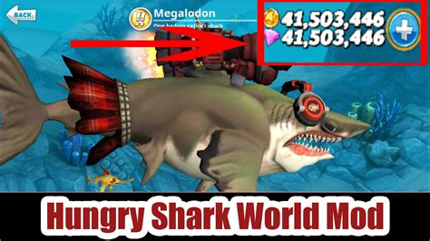mod game hungry shark hungry shark world mod apk v2 5 0 unlimited money
