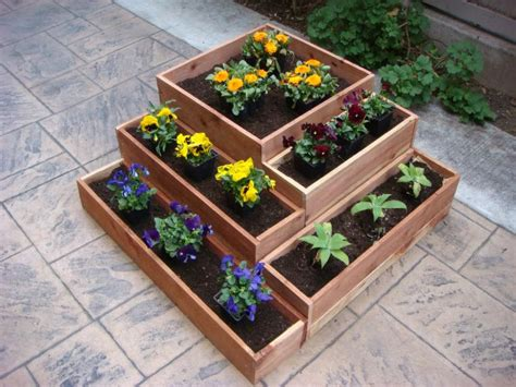 Wooden Garden Planter Boxes by Flower Planter Garden Pot Plant Box Wood 21 X 21 Inch