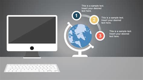 powerpoint design computer modern computer desk powerpoint template slidemodel