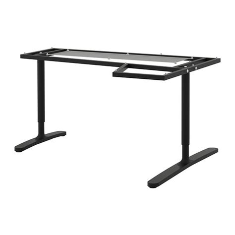 tavolo angolare bekant base per piano tavolo angolare nero ikea