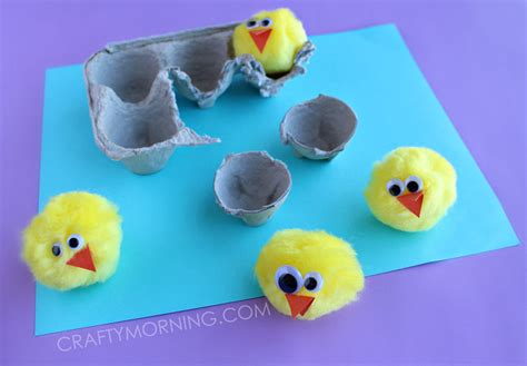 crafts with egg cartons egg hatching craft crafty morning
