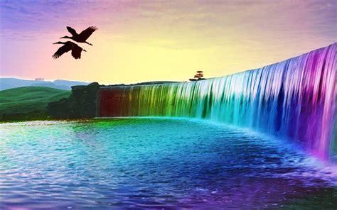 wallpaper 3d waterfall 3d colorful waterfall wallpaper