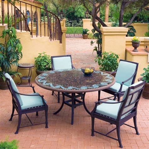 outdoor patio furniture dining sets iron mosaic patio set eclectic outdoor dining sets