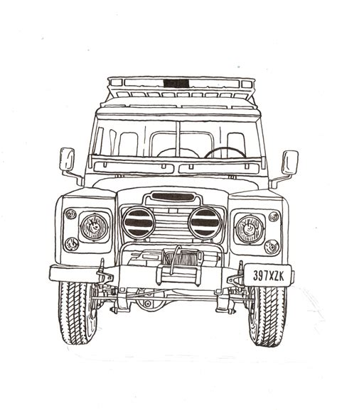 land rover drawing land rover series iii ink drawing fmp design work