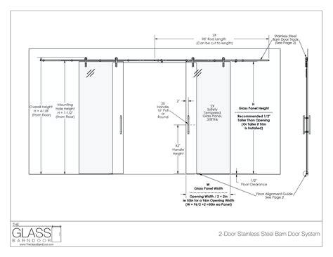 Staggering Barn Door Dimensions Barn Door Dimensions Barn Door Sizes