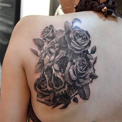 tattoo back white 40 eye catching rose tattoos nenuno creative
