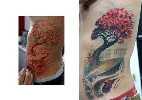 tattoo prices darwin realistic side tree tattoo by darwin enriquez