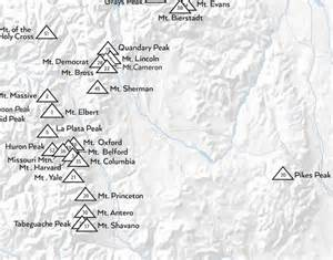 Map Of 14ers In Colorado by 14ers Map Related Keywords Amp Suggestions 14ers Map Long