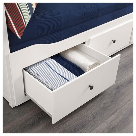 Hemnes Day Bed Frame With 3 Drawers White 80x200 Cm Ikea Hemnes White Bed Frame