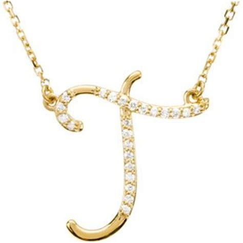 14k yellow gold alphabet initial letter t pendant
