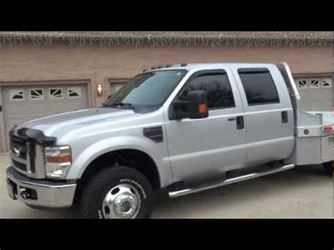 flat bed for sale 2008 ford f350 xlt crew cab diesel 4x4 aluminum flat bed