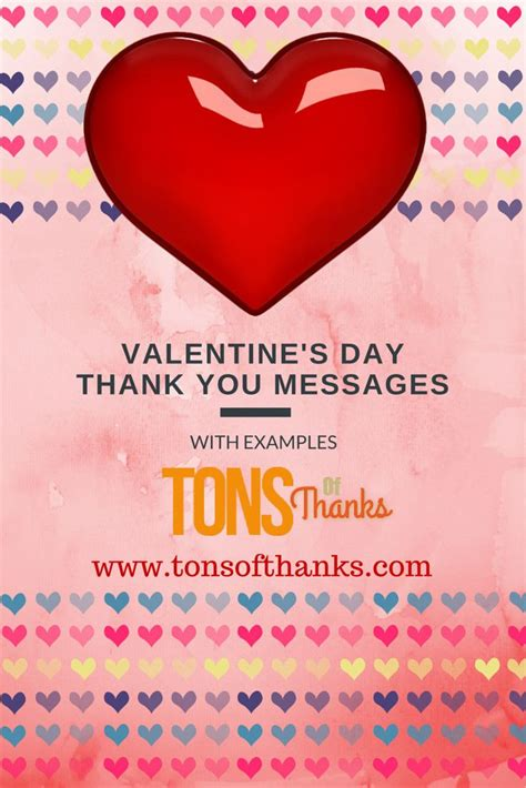Lentines Day Thank You Messages Examples Thank You