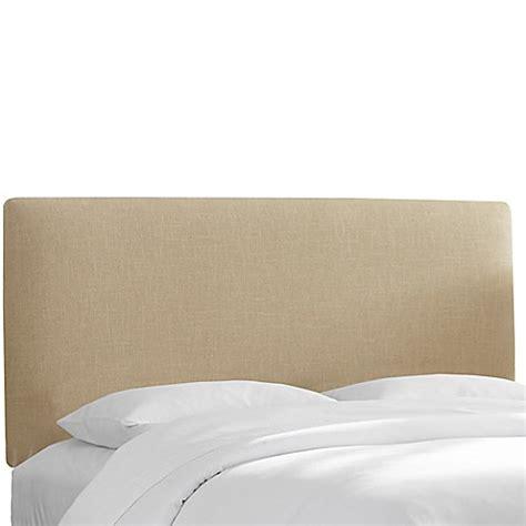 Linen Upholstered King Headboard Buy Skyline Furniture Upholstered King Headboard In Linen Sandstone From Bed Bath Beyond