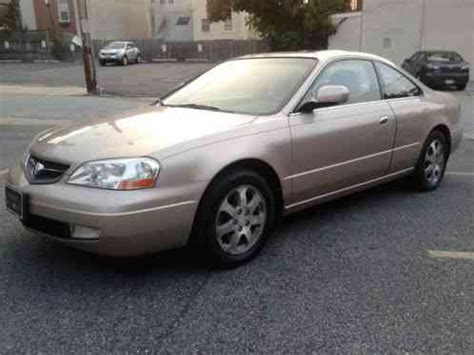 acura cl 2001 2 door coupe sand gold with a taupe