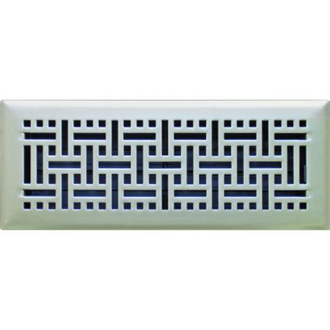 satin nickel wicker ducted heating floor vent 100x300mm