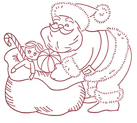 embroidery pattern image more vintage christmas embroidery transfers q is for quilter