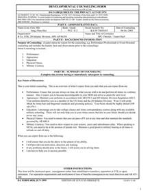 initial counseling template doc 715900 army counseling form da form 4856 financial
