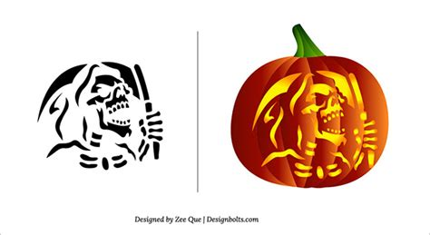free printable scary pumpkin stencils 10 free scary pumpkin carving patterns stencils