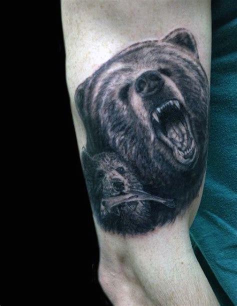 bears den tattoo 60 designs for masculine mauling machine
