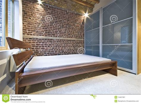 bedroom warehouse modern bedroom in warehouse conversion stock image image