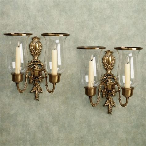 Home Interiors Sconces by Nerissa Antique Brass Wall Sconce Pair