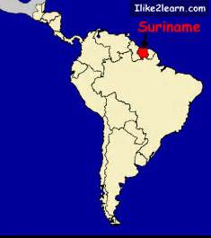 map of suriname south america suriname map