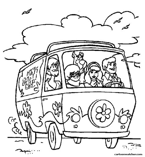 Printable Coloring Pages Mystery Machine Coloring Pages Mystery Picture Coloring Pages