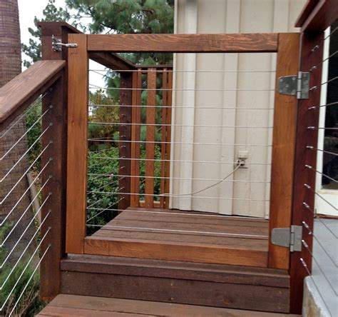 Glass Banister Kits Wood Framed Cable Railing Systems Modern Home Fencing