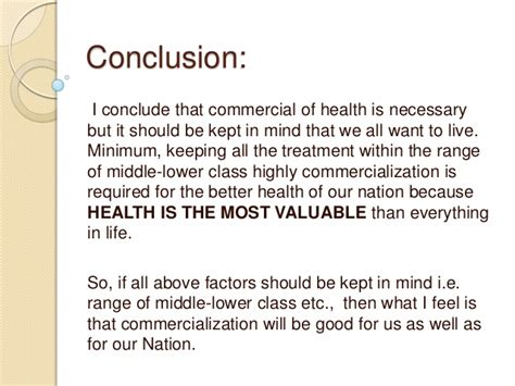 Essay On Commercialization Of Healthcare by Commercialization Of Health Care Or Bad