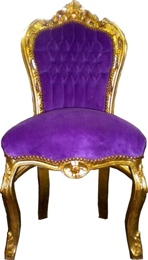lila stuhl baroque dining room chair purple gold chairs baroque