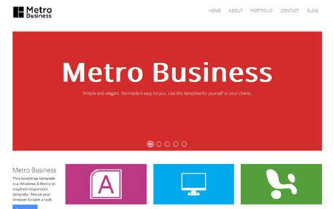 templates bootstrap windows 8 collection of 5 best metro style bootstrap theme