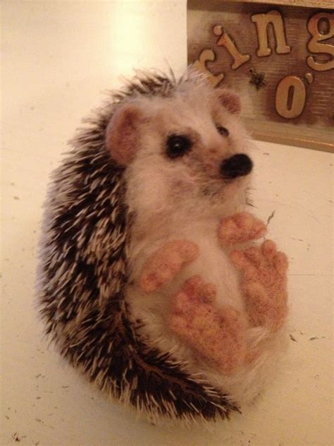 felt pattern hedgehog mohair needle felted hedgehog class