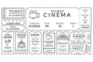 cinema ticket template word 8 ticket templates free word eps psd formats