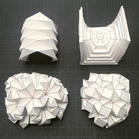 Architectural Origami - best 25 geometric origami ideas on