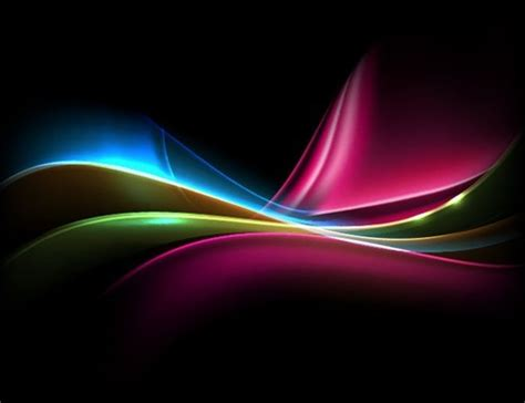 colored light  dark background vector illustration