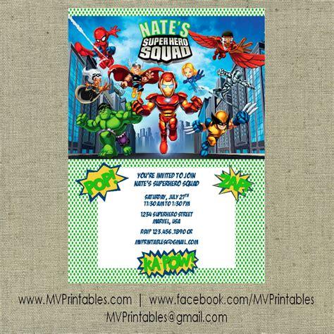 7 Best Images Of Marvel Super Hero Invitations Free Printable Free Superhero Birthday Party Marvel Invitation Template Free