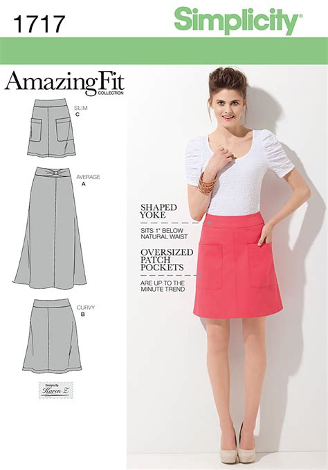 simple pattern a line skirt simplicity 1717 misses skirt