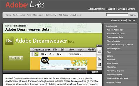tutorial photoshop dreamweaver website a quick look at the new features in dreamweaver cs4