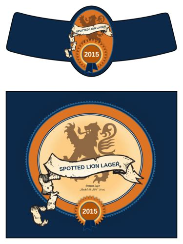free printable beer label templates spotted lion lager beer bottle label label templates