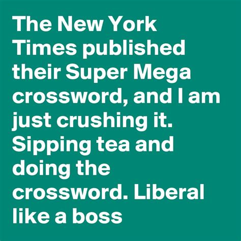 the new york times publishes the new york times published their super mega crossword