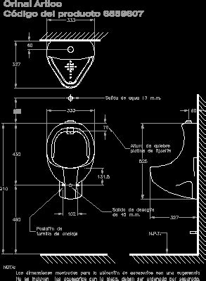 Urinal DWG Section for AutoCAD • Designs CAD