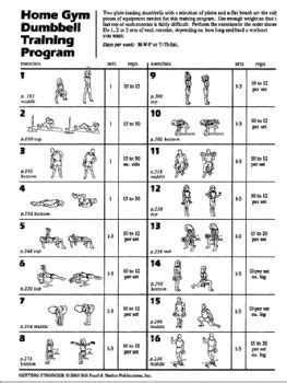 home dumbbell workout plan home design and style