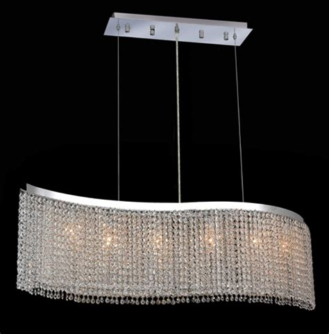 swarovski ceiling light fixtures krane series 6 light chrome 46 wave pendant chandelier