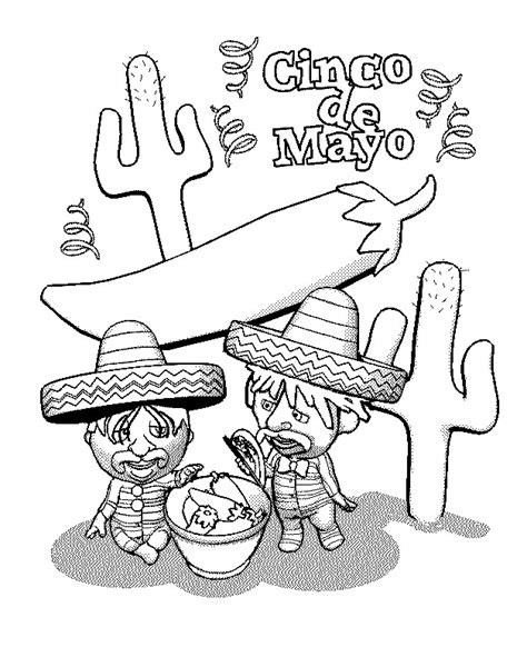 cinco de mayo coloring pages free printable cinco de mayo coloring pages for