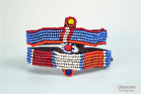 Beaded Armband Objective Vintage Design