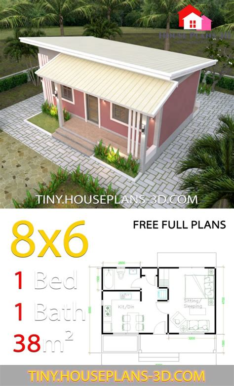small house plans    bedrooms shed roof tiny