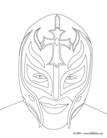 sketches of wwe sin cara and rey mysterio coloring pages