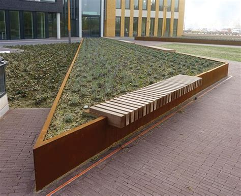 public benches 17 best images about corten planters and retaining walls