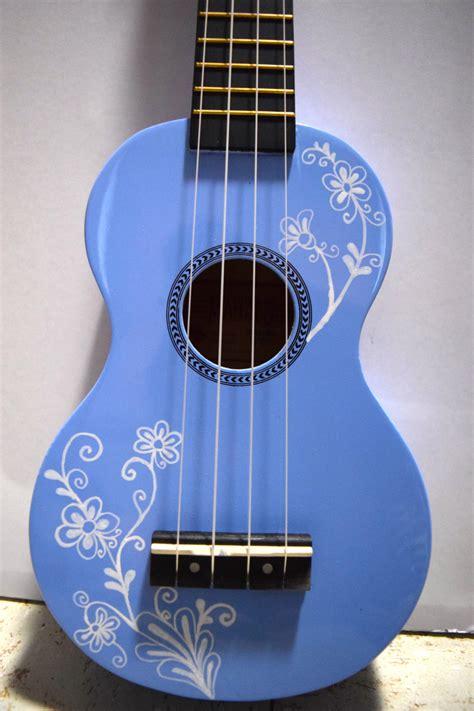 flower design ukulele soprano ukulele with hand painted design flowering vine